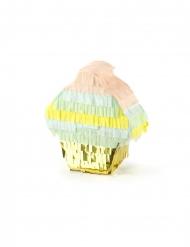 Mini piñata cupcake métallisée 9 x 10 x 3,5 cm