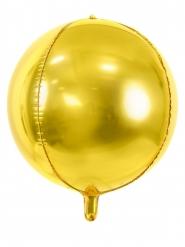 Ballon aluminium rond doré métallisé 40 cm
