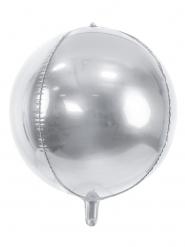 Ballon aluminium rond argenté métallisé 40 cm