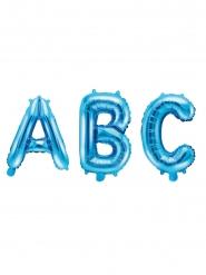 Ballon en aluminium lettre bleu 35 cm