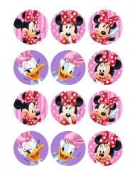12 Décorations en amidon pour biscuits Minnie™ 6 cm