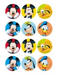 12 Décorations en amidon pour biscuits Mickey et ses amis™ 6 cm
