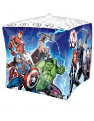 Ballon en aluminium cube Avengers™ 38 x 38 cm