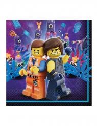 16 Serviettes en papier  La Grande Aventure Lego 2™ 33 x 33 cm
