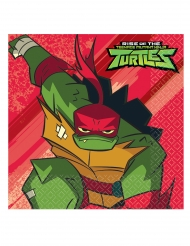 16 Serviettes en papier Le Destin des Tortues Ninja™ 33 x 33 cm