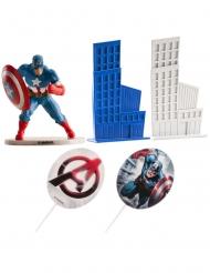 Kit décoration gâteau Captain America™ 8 cm