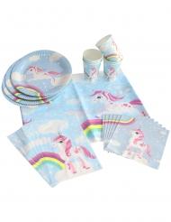 Kit d'anniversaire licorne magique bleue 25 pièces