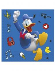20 Serviettes en papier Mickey copains de jeux™  33 x 33 cm