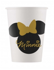 8 Gobelets en carton Minnie Gold™ 160 ml