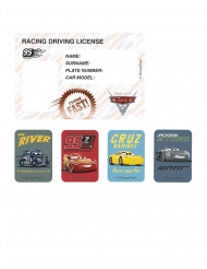 4 Cartons d'invitation et stickers Cars 3™