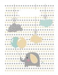 6 Sacs cadeaux bébé Eléphant