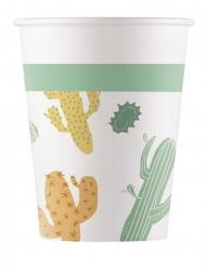 8 Gobelets en carton cactus 200 ml