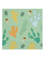 20 Serviettes en papier cactus 33 x 33 cm