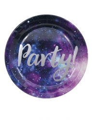 8 Assiettes en carton galaxy party 23 cm