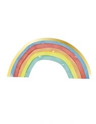 16 Serviettes en papier arc-en-ciel rainbow party 33 x 16,5 cm
