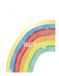 6 Sacs de fête rainbow party