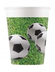 8 Gobelets en carton football party 200 ml