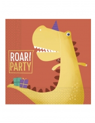 20 Serviettes en papier dinosaure party 33 x 33 cm
