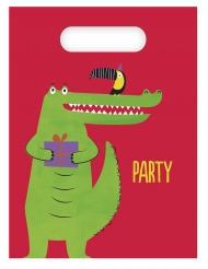6 Sacs de fête croco party