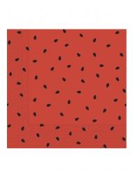 20 Serviettes en papier pastèque party 33 x 33 cm