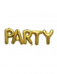 Ballon aluminium doré party 1 m
