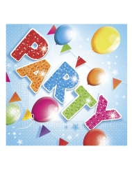 20 Serviettes en papier fabulous party 33 x 33 cm