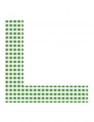 20 Serviettes en papier vichy vert et blanc 33 x 33 cm