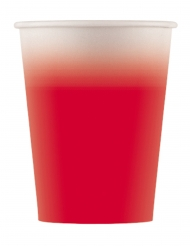 8 Gobelets en carton rouge 200 ml