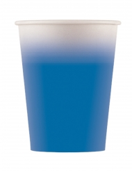 8 Gobelets en carton bleu 200 ml