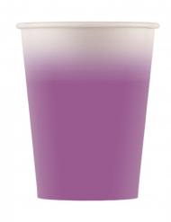 8 Gobelets en carton violet 200 ml