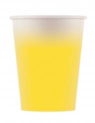 8 Gobelets en carton jaune 200 ml