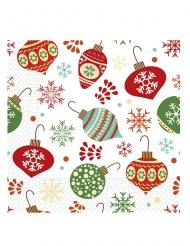 20 Serviettes en papier décorations de sapins 33 x 33 cm