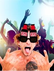 Lunettes bouteille de bière EVG Party adulte