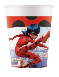 8 Gobelets en carton Miraculous Ladybug™ 200 ml
