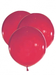 5 Ballons géants en latex rouges 47 cm
