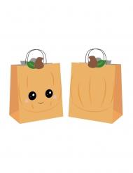4 Sacs en papier chasse aux bonbons sweety pumpkin oranges 19 x 8 x 22 cm
