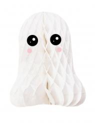 Décoration en papier alvéolé fantôme blanche
