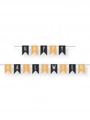 Guirlande mini fanions happy halloween orange et noire 2 m