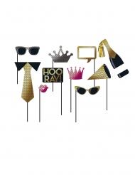 Kit photobooth célébration sequin 10 accessoires