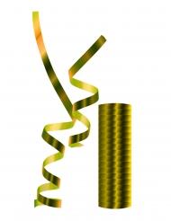 Rouleau de serpentins métalliques dorés