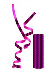 Rouleau de serpentins métalliques roses