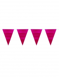 Guirlande fanions rose métallique 6 m