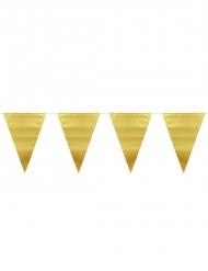 Guirlande fanions doré métallique 6 m