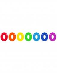 Guirlande fanions chiffres multicolores 6 m
