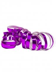 2 Rouleaux de serpentins violet métallique 4 m