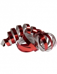2 Rouleaux de serpentins rouge métallique 4 m