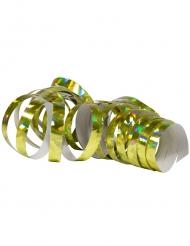 2 Rouleaux de serpentins holographiques dorés 4 m