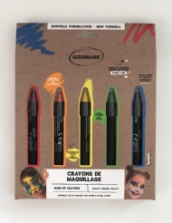5 crayons de maquillage arc-en-ciel 2,8 g