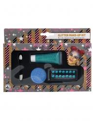 Kit de maquillage bleu pailleté
