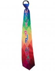 Cravate Happy Birthday adulte
